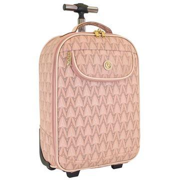 Εικόνα της    Μικρού μεγέθους βαλίτσα τρόλει  με πύργους Κωδικός: 856-4008-18 pink