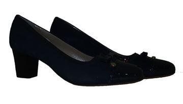 Εικόνα της  Δερμάτινο παπούτσι ανατομικό - com-001 -blue