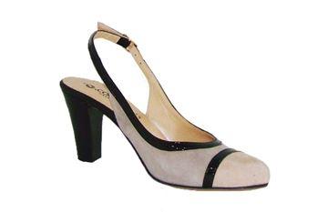 Εικόνα της   Δερμάτινο παπούτσι ανατομικό - com-002 -grey-ivory-black