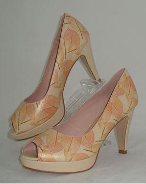 Εικόνα της  Δερμάτινο παπούτσι  - SP-006floral gold