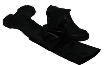 Εικόνα της  Δερμάτινη μπότα - NAKO-025 - Μαύρη