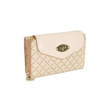 Εικόνα της   Γυναικείο πορτοφόλι μεγάλου μεγέθους με δύο διαφορετικές θήκες - μπέζ