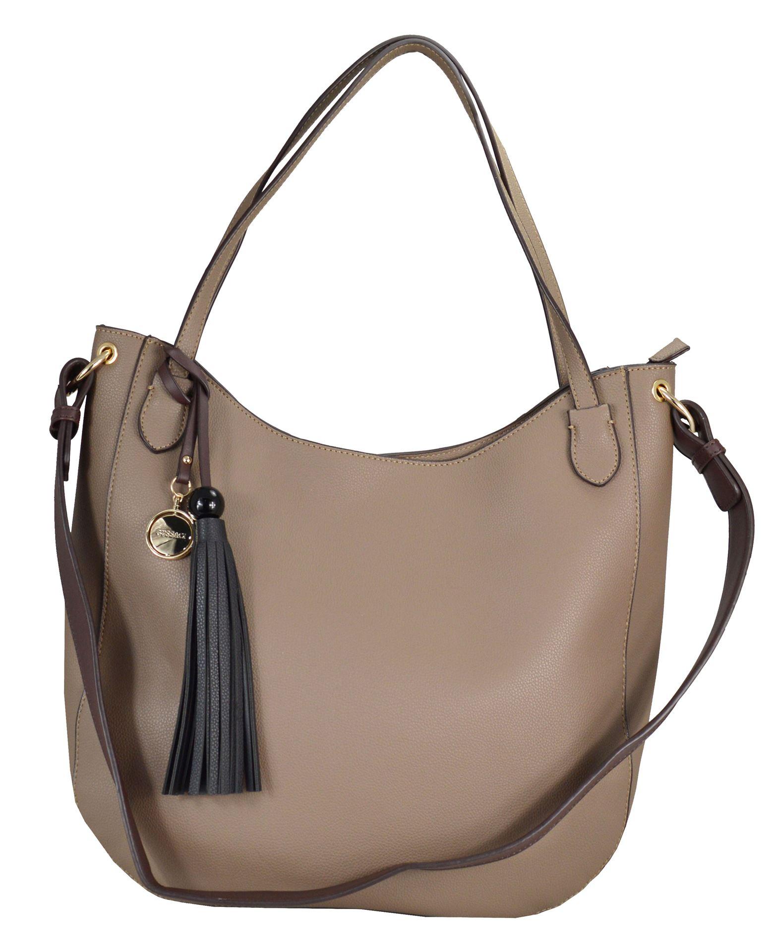 5253701c30 Γυναικεία τσάντα ώμου GUS-18s04 taupe