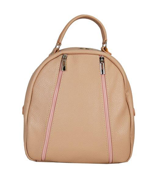 Εικόνα της Δερμάτινη γυναικεία τσάντα πλάτης PE-18002 ροζ