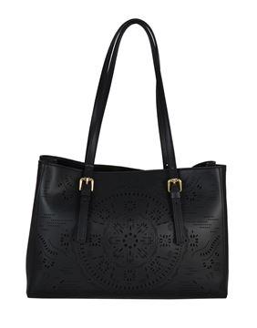 Εικόνα της  Δερμάτινη γυναικεία τσάντα ώμου PE-18006-BLACK