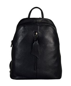 5437d2fcc2 Δερμάτινη γυναικεία τσάντα πλάτης PE-18013-black