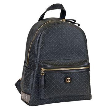 Εικόνα της Μεσαία γυναικεία τσάντα πλάτης μαύρο Κωδικός: 142030-3M La Tour Eiffel