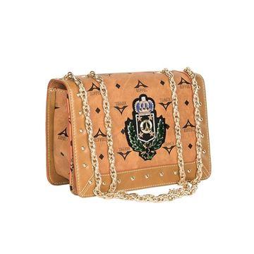 5598dac27c Εικόνα της Μικρή γυναικεία τσάντα ώμου με αλυσίδα τρουκς ταμπά36- 171031-2BZ