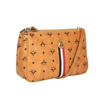 025b180d687 Γυναικεία τσάντα χιαστί με ρίγες ταμπά 36-111090-4ED