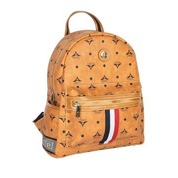 fffb517786 Εικόνα της Μεσαία γυναικεία τσάντα πλάτης με ρίγες ταμπά 36-142030-3MD