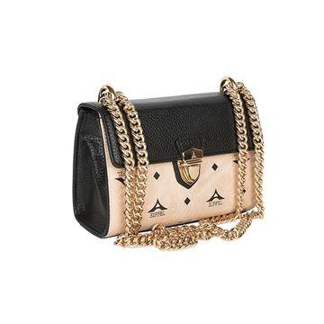 6db1a5368ad Γυναικεία τσάντα με αλυσίδα ΜΠΕΖ-ΜΑΥΡΟ36-181024-1