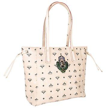 4120aabd187 Εικόνα της Μεγάλη γυναικεία τσάντα ώμου μπεζ 36-151006-1XZ