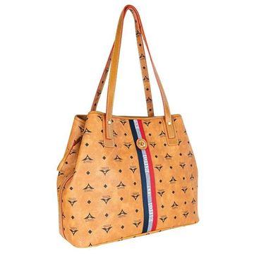 Εικόνα της Γυναικεία τσάντα ώμου με ρίγα Ταμπά 36-171034-2C