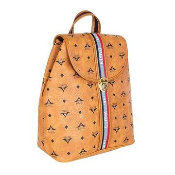 Εικόνα της Γυναικεία τσάντα πλάτης με ρίγες Ταμπά 36-10490-3D