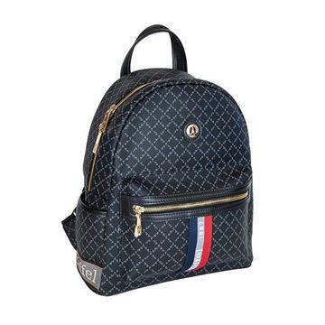 Εικόνα της Γυναικεία τσάντα πλάτης με ρίγα Μαύρο 171-142030-3ΜD