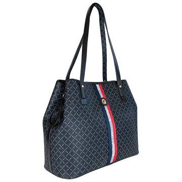 Εικόνα της Γυναικεία τσάντα ώμου με ρίγα Καφέ 171-171034-2