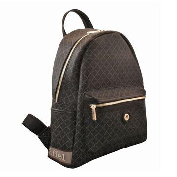 Εικόνα της Μεγάλη γυναικεία τσάντα πλάτης Μαύρο 142030-3