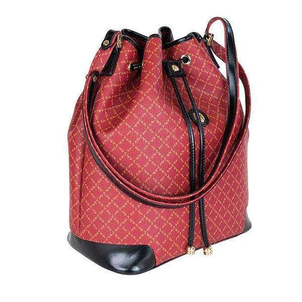 Εικόνα της  Γυναικεία τσάντα ώμου πουγκί Κόκκινο 171-10495-6