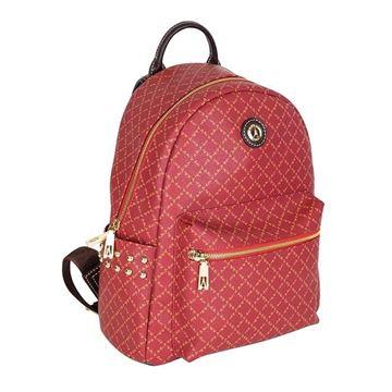 Εικόνα της Γυναικεία τσάντα πλάτης με τρουκς Κόκκινο 171-181046-1Α