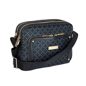 Εικόνα της Γυναικεία τσάντα χιαστί Μαύρο 171-111059-7