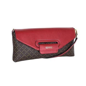 Εικόνα της Γυναικεία τσάντα χιαστί Καφέ-Κόκκινο 171-181032-1