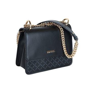 Εικόνα της Γυναικεία τσάντα ώμου με αλυσίδα Μαύρο 171-181028-1
