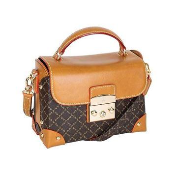 Εικόνα της Γυναικεία τσάντα χειρός/χιαστί Καφέ-Ταμπά 171-181038-1
