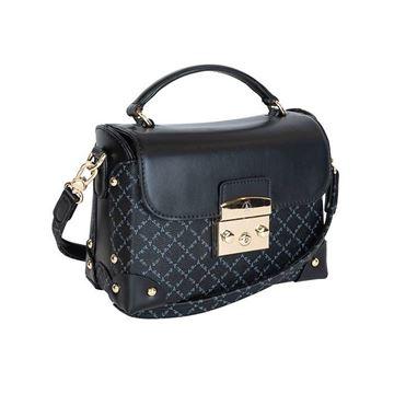 Εικόνα της Γυναικεία τσάντα χειρός/χιαστί Μαύρη 171-181038-1