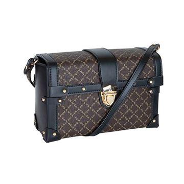 Εικόνα της Γυναικεία τσάντα χιαστί Καφέ-Μαύρο 171-181025-2