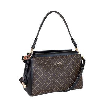 Εικόνα της  Γυναικεία τσάντα χειρός/χιαστί Καφέ-Μαύρη171-181036-1