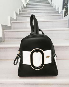 Εικόνα της  Γυναικεία τσάντα πλάτης μικρή  black-white 1911 FRNC