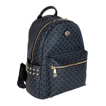 Εικόνα της  Γυναικεία τσάντα πλάτης με τρουκς ΜΑΥΡΗ 171-181046-1Α