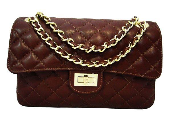 Εικόνα της  Δερμάτινη γυναικεία τσάντα - PE-001 - brown