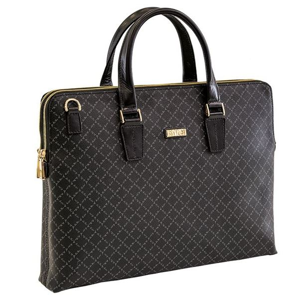Εικόνα της  Επαγγελματική τσάντα μεγάλου μεγέθους με δύο διαφορετικές θήκες (λογότυπο) -171-132034-2 black