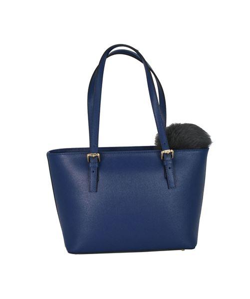 Εικόνα της  Δερμάτινη γυναικεία τσάντα - PE-054 - BLUE ROYAL