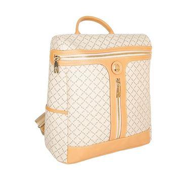 Εικόνα της  Γυναικεία τσάντα πλάτης με φερμουάρ ανοικτό μπεζ171-:171022-1 La Tour Eiffel
