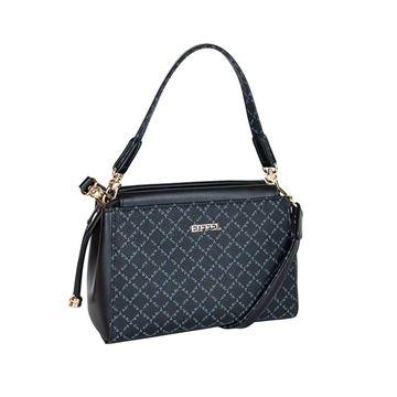 Εικόνα της Γυναικεία τσάντα χειρός/χιαστί Μαύρο 171-181036-1