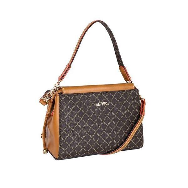 Εικόνα της  Γυναικεία τσάντα χειρός/χιαστί Καφέ-Ταμπά171-181036-1