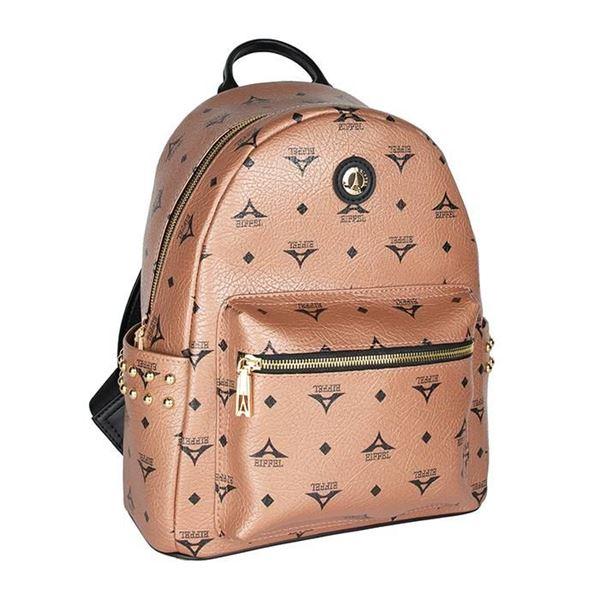 Εικόνα της  Γυναικεία τσάντα πλάτης με τρουκς μπρονζέ 36-181046-1Α