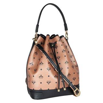 Εικόνα της Μεγάλη γυναικεία τσάντα ώμου πουγκί μπρονζέ 36-10075L