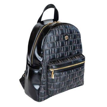 Εικόνα της Γυναικεία τσάντα πλάτης Μαύρο 736-142030-3