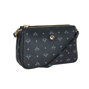 Εικόνα της  Γυναικεία τσάντα χιαστί μαύρη 36-111090-4Ε