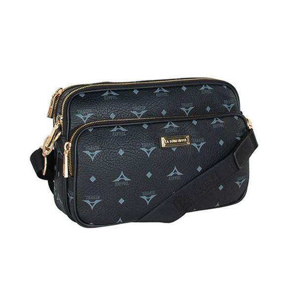 Εικόνα της  Γυναικεία τσάντα χιαστί μαύρη 36-112018 la tour eiffel-3