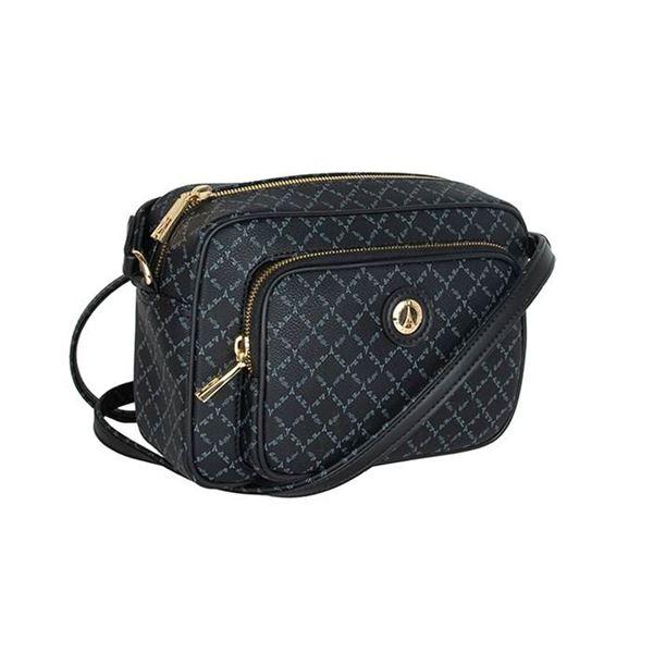 Εικόνα της  Γυναικεία τσάντα χιαστί μαύρη 171-191021-1