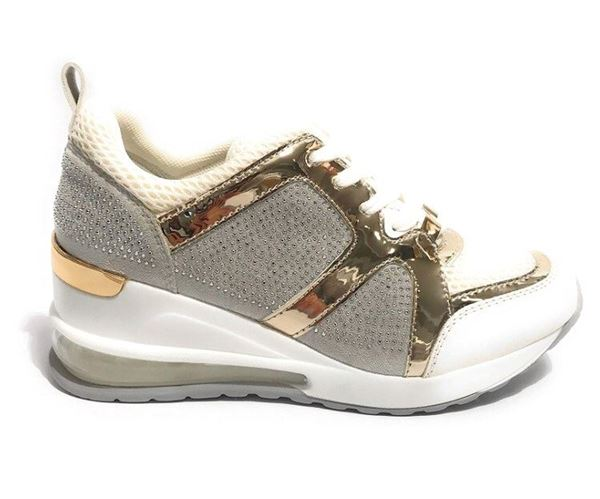 Εικόνα της   SNEAKERS Gold&Gold ice- white GR109