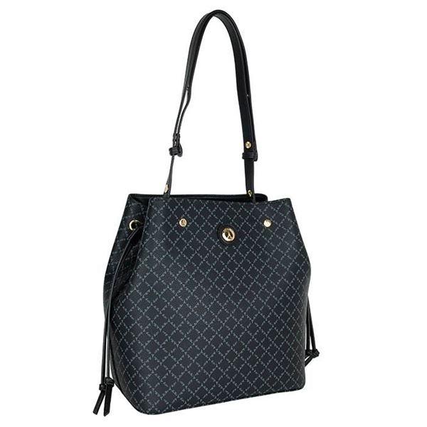 Εικόνα της   Γυναικεία τσάντα ώμου μαύρη 171-191027-2