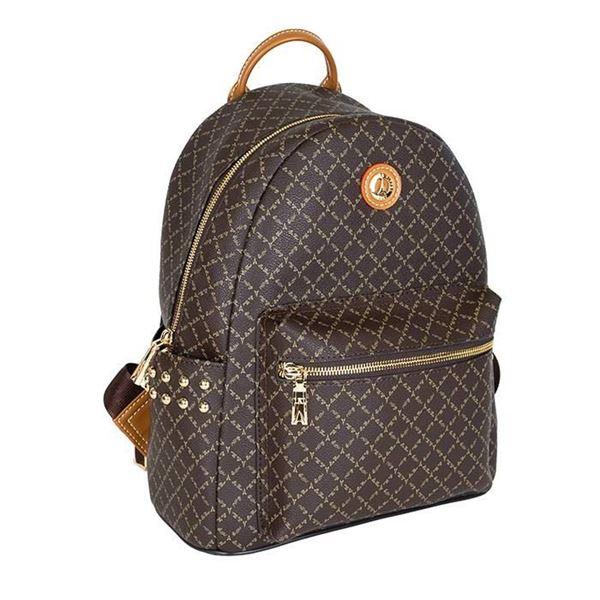Εικόνα της   Γυναικεία τσάντα πλάτης με τρουκς ΚΑΦΕ 171-181046- 1A LA TOUR EIFFEL