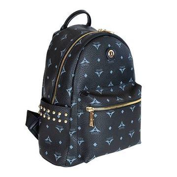 Εικόνα της  Γυναικεία τσάντα πλάτης με τρουκς ΜΑΥΡΗ 36-181046-1Α