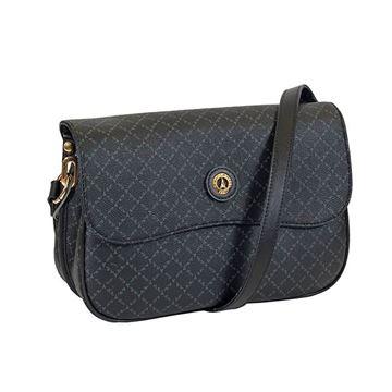 Εικόνα της   Γυναικεία τσάντα χιαστί μαύρη171-122037-2  LA TOUR EIFFEL