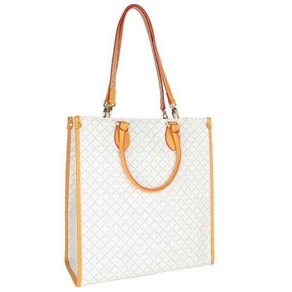 Εικόνα της Μεγάλη γυναικεία  τσάντα διπλής όψεως χειρός-ώμου άσπρη-μπεζ Κωδικός: 171-191009-1Η La Tour Eiffel